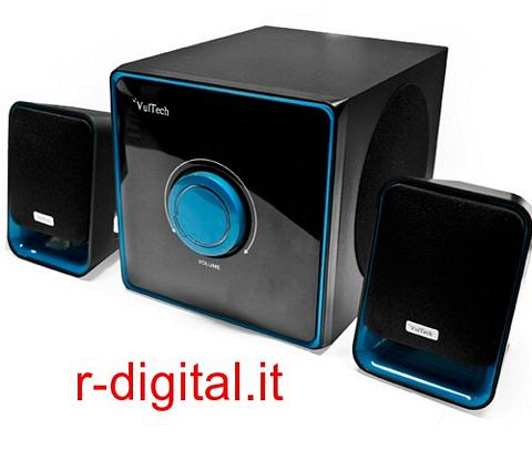 CASSE ALTOPARLANTI 2.1 VULTECH 22W COMPUTER PC AUDIO AMPLIFICATE